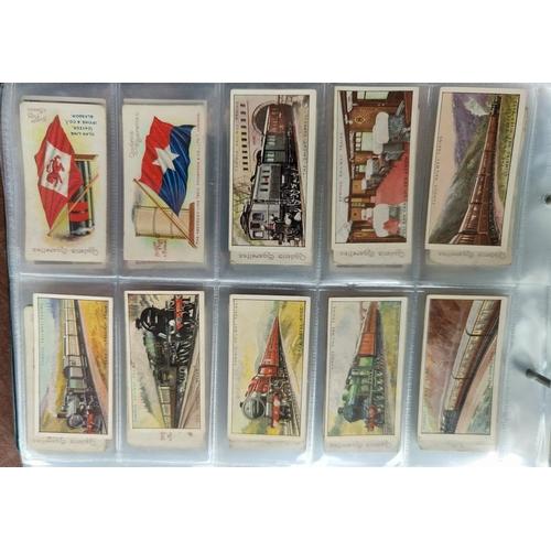 114C - An album of 36 sheets of part sets of cigarette cards Ogdens, including tabs.