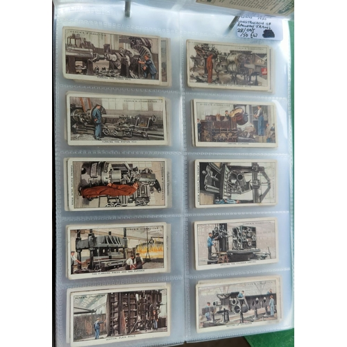 115 - An album of 37 sheets of part sets of cigarette cards including Ogdens etc.