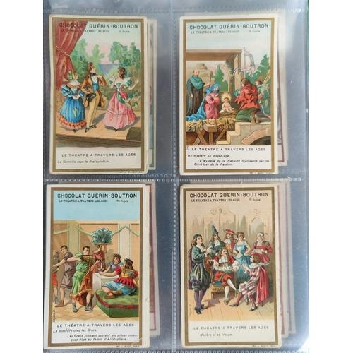 115C - An album of 30 sheets of rarer single cigarette cards etc.