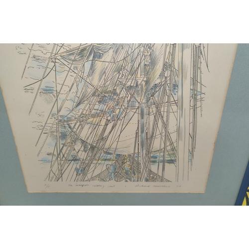 127B - Richard Demarco (Scottish B1930): A pair of Artist Proofs 'The Marquet unfurling sails' & 'The Marqu...