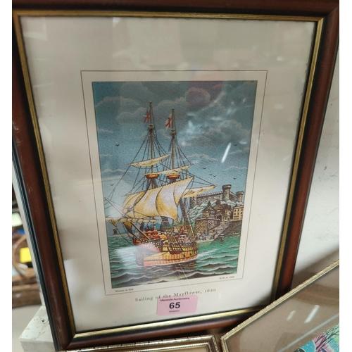 65 - Four Brocklehurst Whiston calendar silks:  Hurdsfield House; King Edward Street; Sailing of the Mayf...