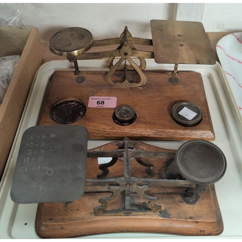 68 - Two 19th century sets of postal scales