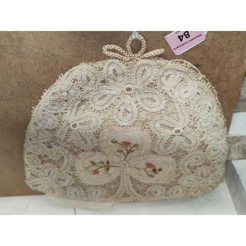 84 - A 19th century Irish lace tea cosy