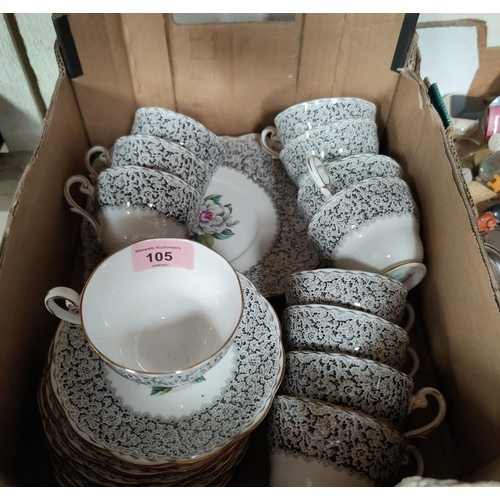 105 - A part royal Standard tea service and other decorative china etc.
