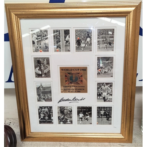 109B - A limited edition World Cup 1966 set of framed pictures of the stand out moments of the game, goals ...