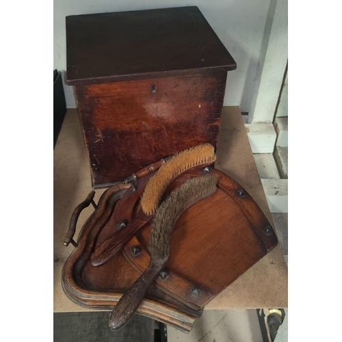 109C - A mahogany Candle Box and other wooden items.