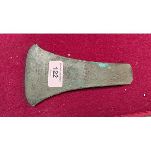 122 - A Bronze Age axehead, 16cm