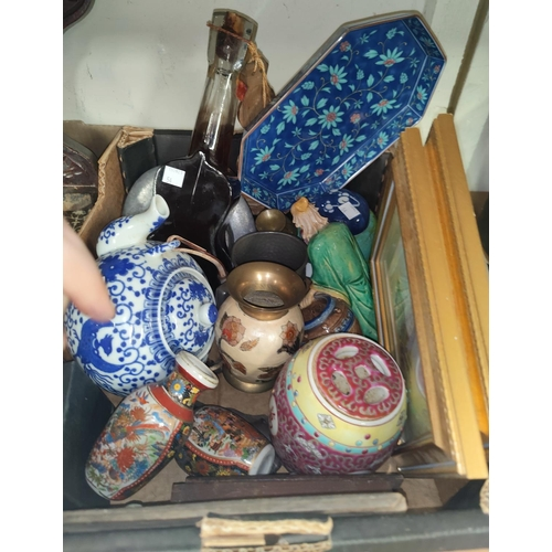 97 - A selection of oriental and other decorative pottery