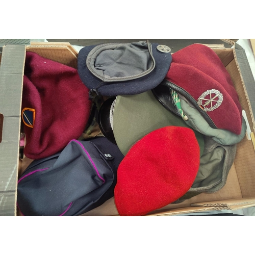130F - A selection of military style hats