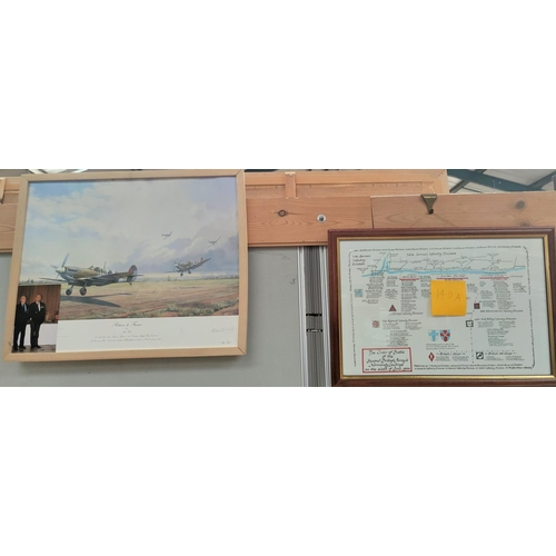 140A - The Order of Battle of the Second British Armies Normandy Landings, 6th June 1944, framed print sign...