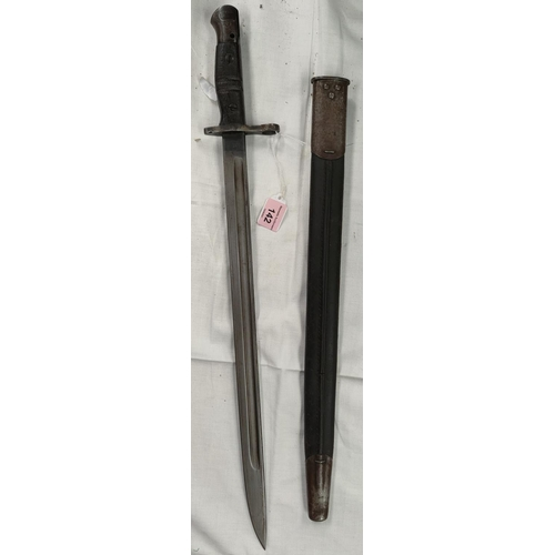 142 - A US Remington 1913 pattern bayonet with scabbard, blade stamped 1918, (blade 43cm)