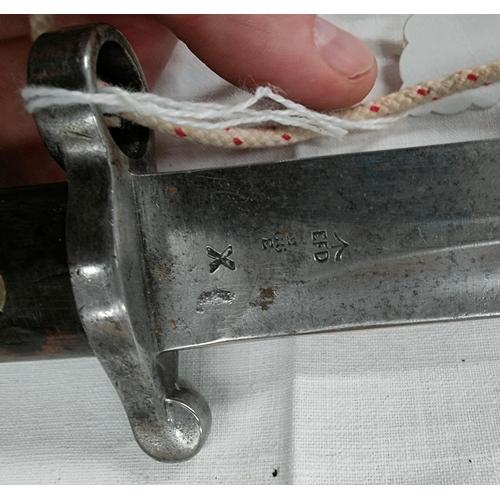 154 - A UK 1888 pattern Bayonet; blade 30cm.