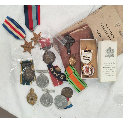 181 - A WWII British Empire Medal group of five including Teritorial Efficiency Medal to 3515017 S/Sgt HER...