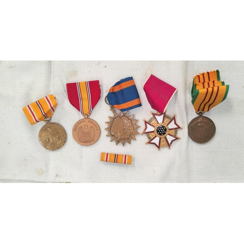 183 - A US WWII Asiatic Pacific Campaign medal and four others