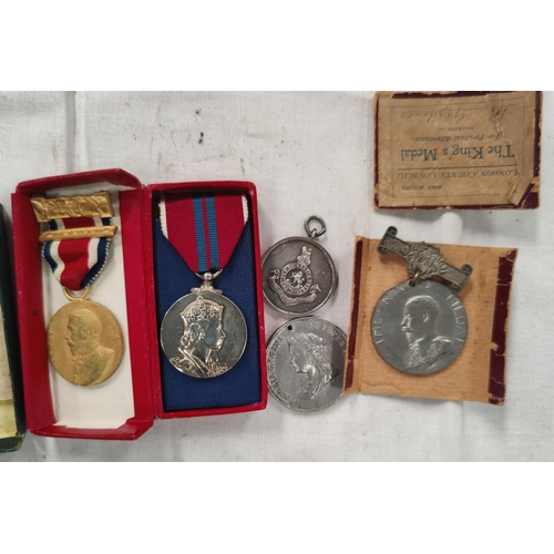 188 - A QEII 1953 Coronation Medal, boxed, 4 other items