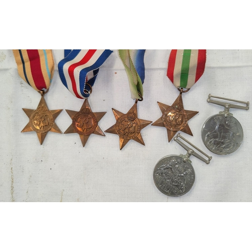 191 - A WWII group of six medals, unattributed