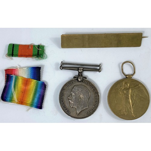 220a - A WWI pair of medals to 173661 GN J. Bailey. R.A.