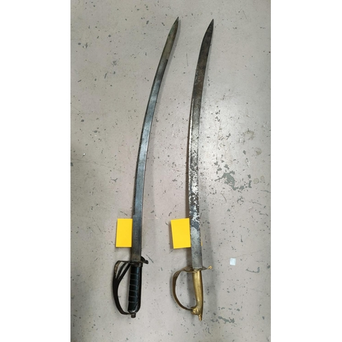 170B - An Indian Pattern Sabre & another for decorative purposes