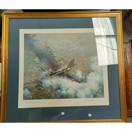 174 - Three prints, WWII Aircraft: