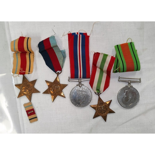 192 - A WWII group of five medals unattributed