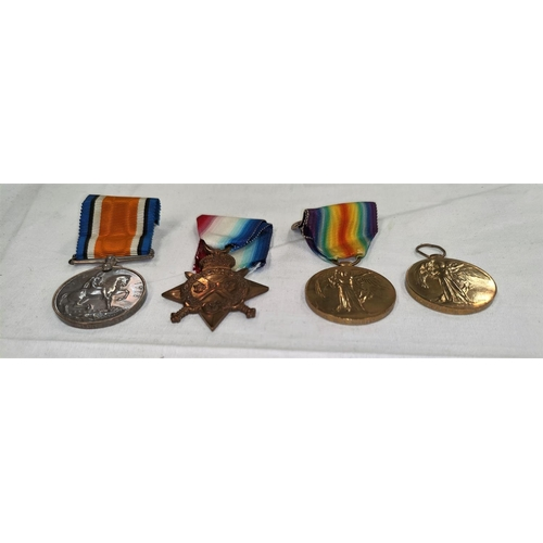 202 - A WWI silver War Medal to G. 27622 PTE G. MARTIN Middx R., a 15 Star RFA and 2 Victory medals- Hayes...