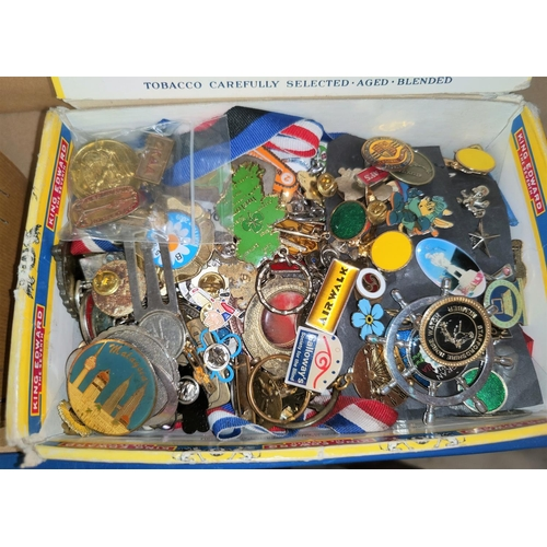 224 - A selection of badges and medallions