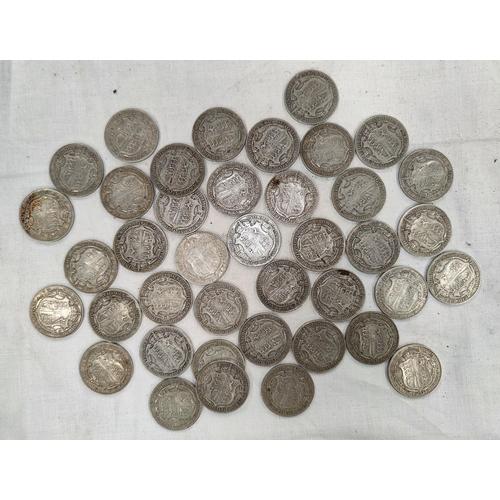 227 - 40 pre 1920 GV half crowns 17.8oz