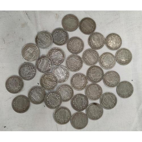 229 - 32 pre 1920 GV and Edward VII half crowns 14.2oz