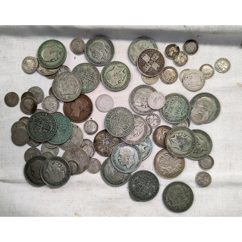 230 - A selection of Victorian and later GB silver coins 15.7oz