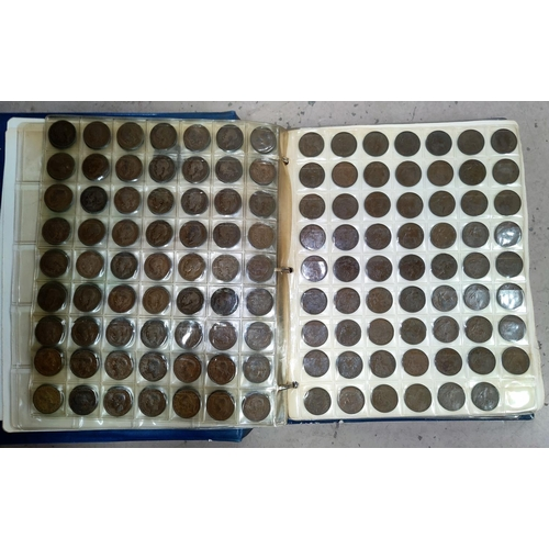 231 - An album of GB pre-decimal coins mainly half pennies and pennies