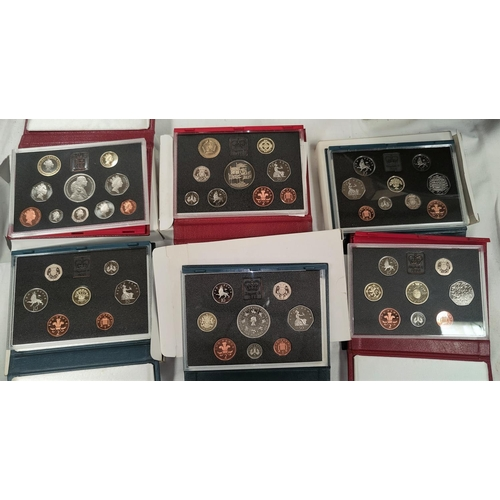 240 - GB: 1996,1997 luxury proof sets and 4 others 1991 x 2, 1992/3