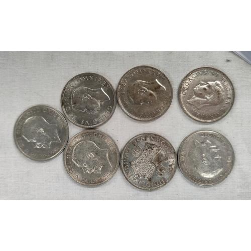 256 - 7 pre decimal half crowns