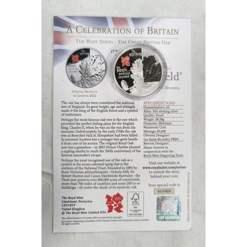 289 - GB: Olympics silver £5 2010,