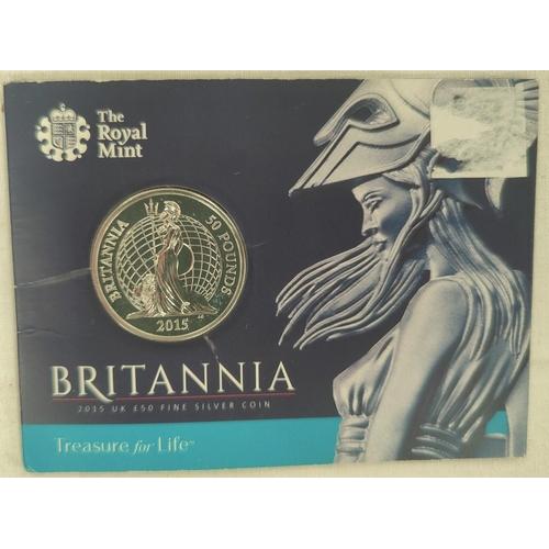 296A - GB: £50 silver Britannia