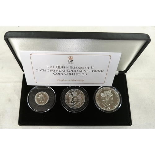 297 - GB: QE11 90th Birthday silver proof coin set 2016