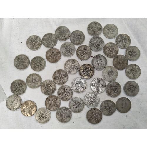 226 - 40 pre 1920 mainly GV florins 14.1oz