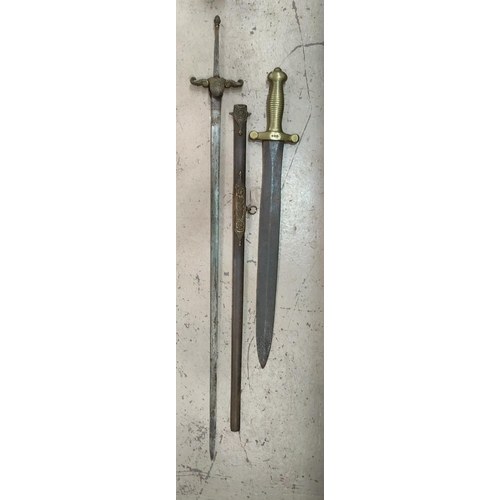 175A - A French 1816 model gladius sword and another antique sword