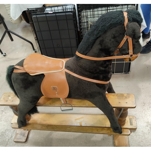 32a - A modern Mommas and Pappas rocking horse