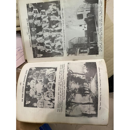33 - Trevor Porteus, ex Stockport County Player:  original typed draft of a history of football; a musica...