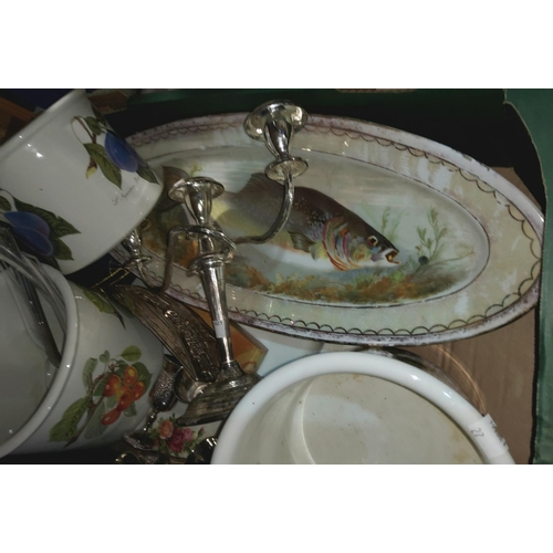 27 - A selection of china and glass:  Old Country Roses; Shelley; a Royal Worcester commemorative bowl; e...