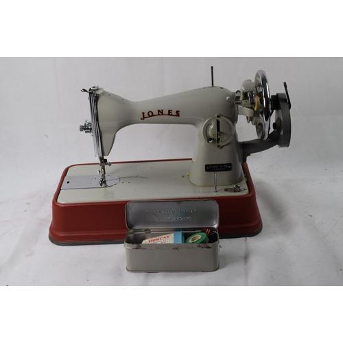 Cased Vintage Jones Sewing Machine Model D40 Beauteous Jones Sewing Machine