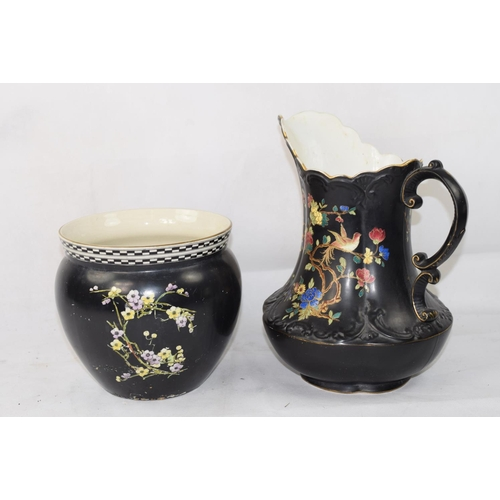 Carlton Ware Water Jug Plus Phoenix Ware Vase