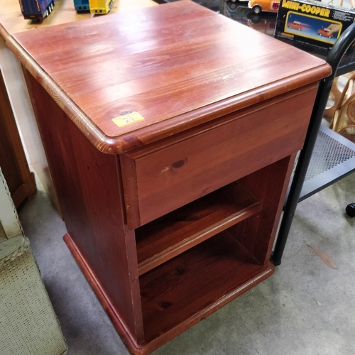 21 - Pine Unit With Drawer