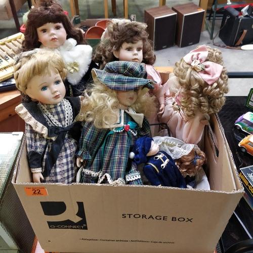 22 - Box Of Old Dolls