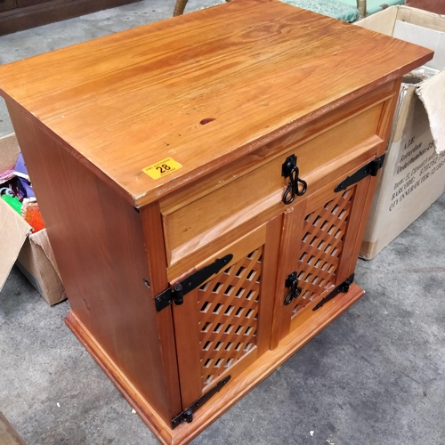 28 - Pine Locker With Lattice Doors