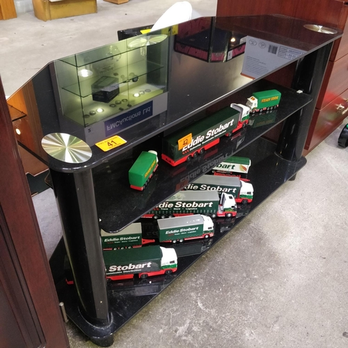 41 - Black Glass TV Unit