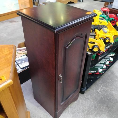 44 - Small Mahogany CD Cabinet