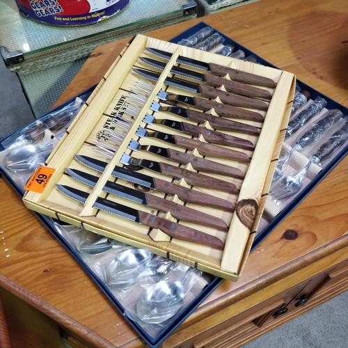49 - Steak Knife Set & Cutlery Set
