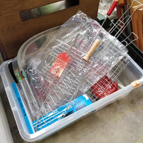 8 - Box Lot Of BBQ Burger Basket, Tray & Others