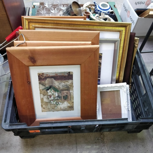 9 - Box Lot Of Picture Frames